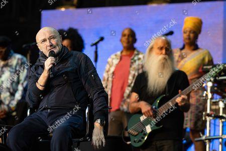 Editorial photo of Phil Collins in the Goffertpark, Nijmegen, Netherlands - 20 Jun 2019