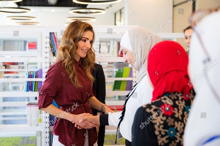 Queen Rania visits the University of Jordan, Amman