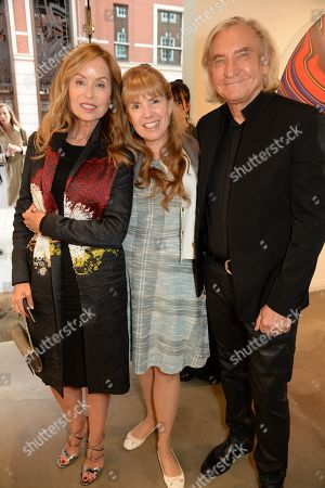 Joe Walsh, guest and Marjorie Bach