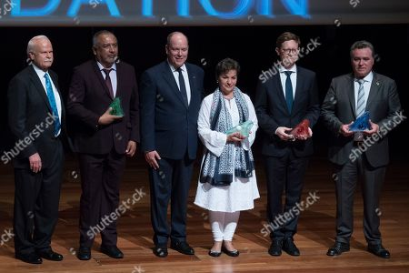 Professor Brad Lister, Andres Garcia Mexican biologist, Prince Albert II of Monaco, Christiana Figueres, former executive secretary of the United Nations Framework Convention on Climate Change, Jakob Askou Vice President of Orsted and president of the Water Tribunal of Valencia