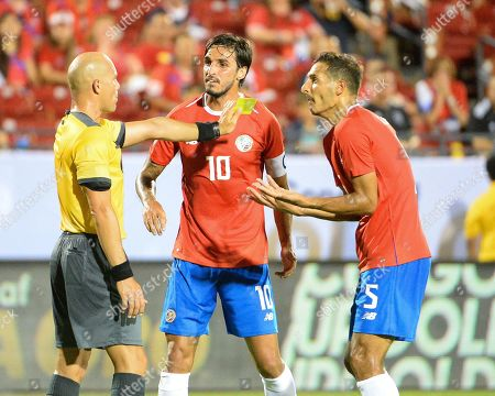 Costa Rica midfielder, Celso Borges (5), argues a foul on Costa Rica midfielder, Bryan Ruiz (10), during CONCACAF Gold Cup match between Costa Rica and Bermuda, at Toyota Stadium in Frisco, TX. Costa Rica defeated Bermuda, 2-1. Mandatory Credit: Kevin Langley/Sports South Media/CSM
