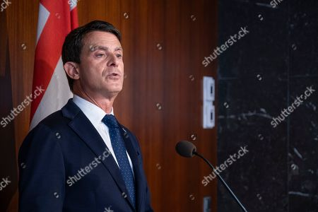 First press conference of former French Minister Manuel Valls as councillor of the Barcelona City Council. Manuel Valls has affirmed his willingness to remain as the Councilman of the City Council despite the decomposition due to disagreements of his political group that has diminished his representation