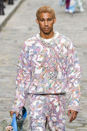 Keiynan Lonsdale on the catwalk