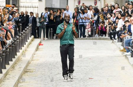 Virgil Abloh on the catwalk