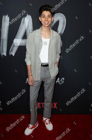 """Fabrizio Zacharee Guido attends the LA Premiere of """"Mr. Iglesias"""" at the Regal LA Live, in Los Angeles"""