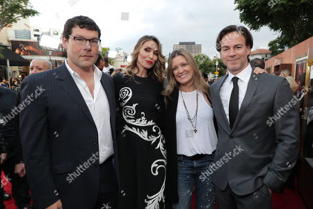 Stock Picture of Richard Brener, President & Chief Creative Officer of New Line Cinema, Natalia Safran, Carolyn Blackwood, President and Chief Content Officer of New Line Cinema, Peter Safran, Producer,
