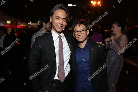 Stock Picture of Walter Hamada, President, DC-Based Film Production, Warner Bros. Pictures, James Wan, Writer/Producer,