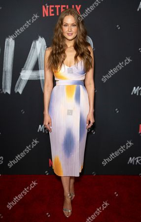 """Stock Picture of Maggie Geha attends the LA Premiere of """"Mr. Iglesias,"""" at the Regal LA Live, in Los Angeles"""