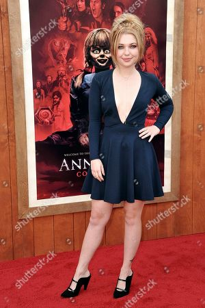 """Stock Photo of Sammi Hanratty attends the LA premiere of """"Annabelle Comes Home,"""" at the Regency Village Theatre, in Los Angeles"""