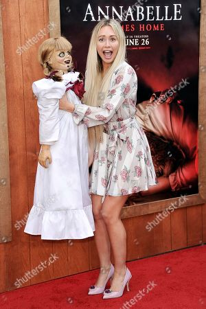 "Corinne Olympios attends the LA premiere of ""Annabelle Comes Home,"" at the Regency Village Theatre, in Los Angeles"