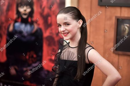 """Mckenna Grace attends the LA premiere of """"Annabelle Comes Home,"""" at the Regency Village Theatre, in Los Angeles"""