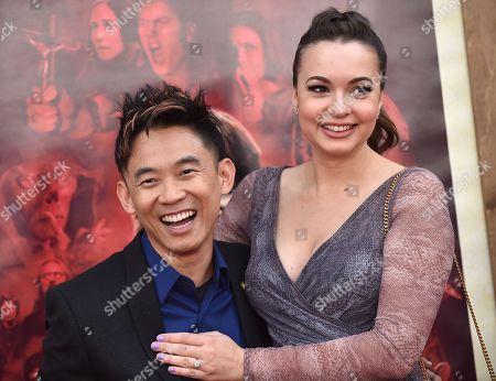 Stock Image of James Wan and Ingrid Bisu
