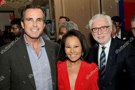 Stock Picture of Bob Woodruff, Alina Cho, Wolf Blitzer (Modarator)