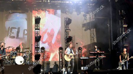 Editorial picture of Sunrise Avenue in concert, Helsinki, Finland - 15 Jun 2019