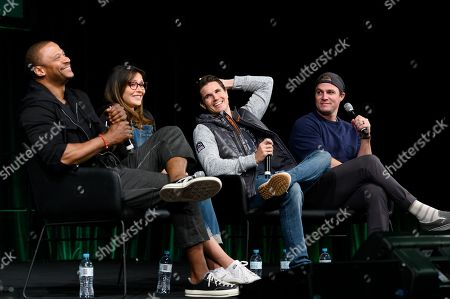 David Ramsey, Italia Ricci, Robbie Amell and Stephen Amell at Supanova Comic Con and Gaming exhibition at Sydney Showground.