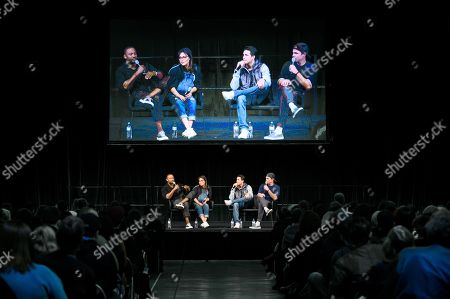 David Ramsey, Italia Ricci, Robbie Amell and Stephen Amell at Supanova Comic Con and Gaming exhibition at Sydney Showground