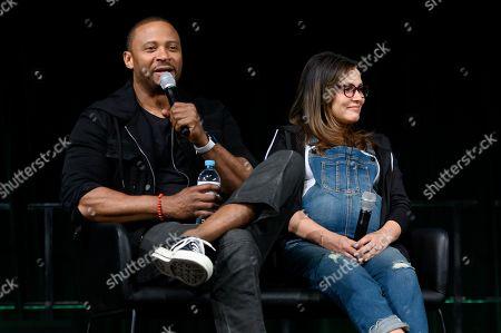 David Ramsey and Italia Ricci at Supanova Comic Con and Gaming exhibition at Sydney Showground.