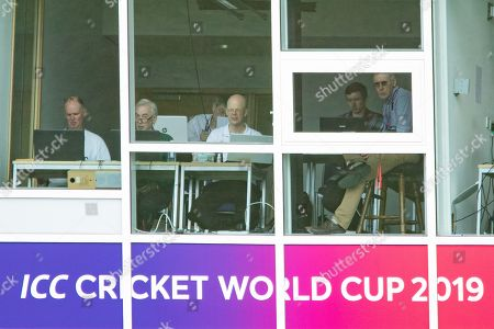 Stock Image of England & Leicestershire scorer Paul Rodgers at the CWC19 during the ICC Cricket World Cup 2019 match between England and Sri Lanka at Headingley Stadium, Headingley