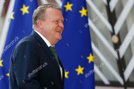 Denmark's Prime Minister Lars Lokke Rasmussen arrives for the second day of a European Council Summit in Brussels, Belgium, 21 June 2019. European leaders take the relevant decisions on appointments for the next institutional cycle and adopt the EU's strategic agenda for 2019-2024.