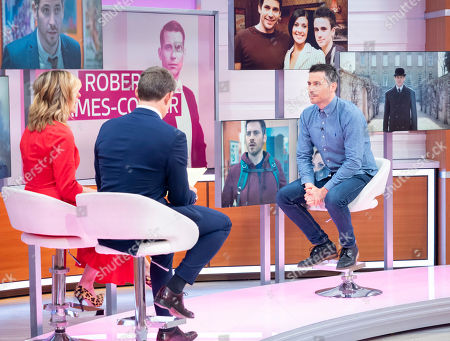 Ben Shephard and Kate Garraway with Rob James-Collier