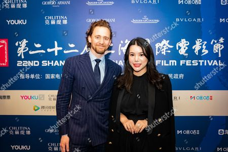 Stock Picture of Tom Hiddleston and Wendy Yu