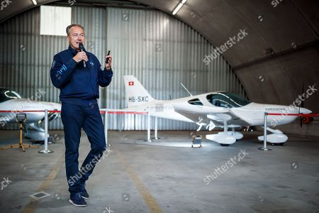 Editorial picture of Electric flight trainer aircraft presented in Sion, Switzerland - 21 Jun 2019