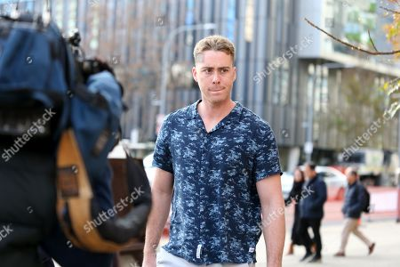Stock Picture of US baseball player Timothy William Cusick leaves the Adelaide Magistrates Court in Adelaide, South Australia, 21 June 2019. Cusick has been granted bail after facing court over a carjacking, theft and crash in Adelaide.