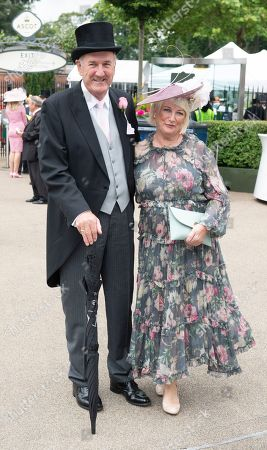 Stock Image of Russ Abbot and wife Tricia
