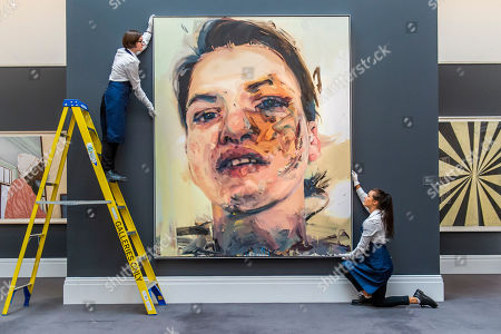 Jenny Saville, Shadow Head, 2007-2013, Estimate: £3,000,000-5,000,000  -Preview of the Contemporary Sales at Sotheby's London. The auctions will take place on 26th June.