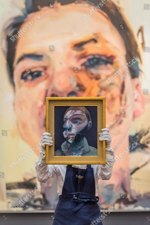Francis Bacon, Self-Portrait, 1975, Estimate: £15,000,000-20,000,000 and Jenny Saville, Shadow Head, 2007-2013, Estimate: £3,000,000-5,000,000