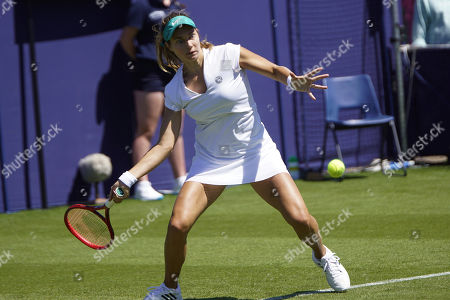 Pegula (USA) Vs Voegele (SUI) Action at the Nature Valley International Eastbourne 2019, at Devonshire Park, Eastbourne, Picture by Jonathan Dunville