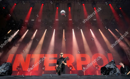 Paul Banks of the US Rock and Post-Punk Band 'Interpol' performs on stage at the 'Southside' festival in Neuhausen ob Eck, Germany, 21 June 2019. The festival takes place from 21 to 23 June.