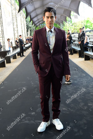 Stock Image of Canadian Taiwanese actor Eddie Peng arrives for the show of Berluti during the Paris Fashion Week, in Paris, France, 21 June 2019. The presentation of the Spring/Summer 2020 menswear collections runs from 18 to 23 June.
