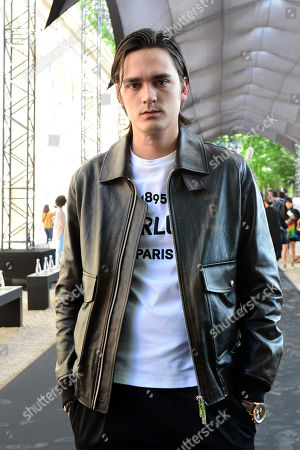 Alain Delon's son, Alain-Fabien Delon arrives for the show of Berluti during the Paris Fashion Week, in Paris, France, 21 June 2019. The presentation of the Spring/Summer 2020 menswear collections runs from 18 to 23 June.