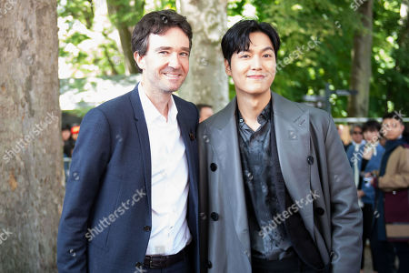 (L-R) General manager of Berluti Antoine Arnault and Lee Min Ho arrive for the show of Berluti during the Paris Fashion Week, in Paris, France, 21 June 2019. The presentation of the Spring/Summer 2020 menswear collections runs from 18 to 23 June.
