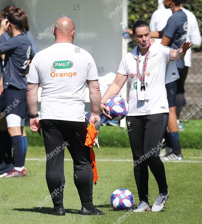 Head coach Corinne Diacre of France during the training session