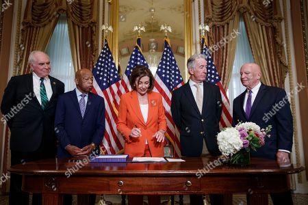 Editorial picture of Speaker of the House Nancy Pelosi taxpayer bill enrollment, Washington, USA - 21 Jun 2019