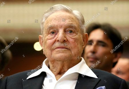 George Soros, Founder and Chairman of the Open Society Foundations, looks before the Joseph A. Schumpeter award ceremony in Vienna, Austria