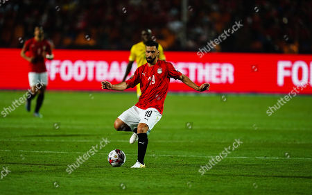 Stock Picture of Abdallah Mahmoud Said Mohamed Bekhit of Egypt G0 during the African Cup of Nations match between Egypt and Zimbabwe at the Cairo International Stadium in Cairo, Egypt