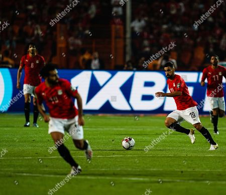 Stock Image of Abdallah Mahmoud Said Mohamed Bekhit of Egypt during the African Cup of Nations match between Egypt and Zimbabwe at the Cairo International Stadium in Cairo, Egypt