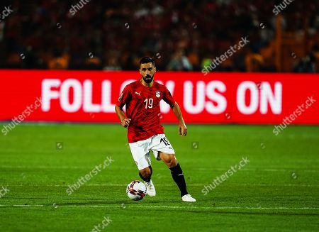 Abdallah Mahmoud Said Mohamed Bekhit of Egypt during the African Cup of Nations match between Egypt and Zimbabwe at the Cairo International Stadium in Cairo, Egypt
