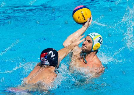 Editorial image of FINA Men's Water Polo World League Super Final, Australia vs Serbia, Belgrade, Serbia, -22 jun 2019