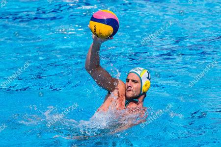 Blake Edwards of Australia  in action