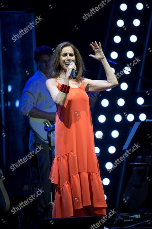Ana Belen performs on stage during her 'Botanist Nights' Festival concert played at the University City in Madrid, Spain, 21 June 2019.