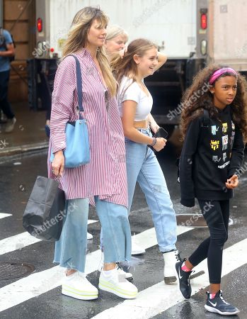 Heidi Klum with children Leni Samuel and Lou Sulola Samuel
