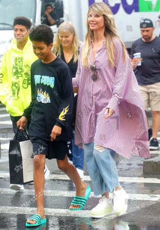 Heidi Klum with children Henry Samuel and Johan Samuel