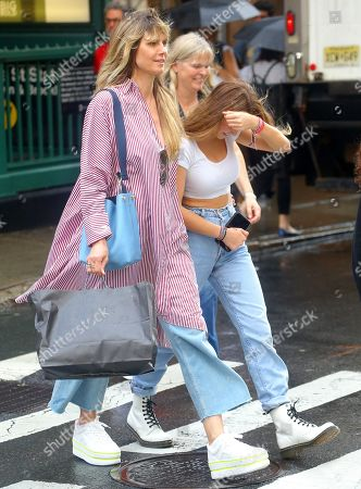 Editorial picture of Heidi Klum and children out and about, New York, USA - 20 Jun 2019