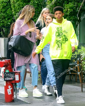Editorial photo of Heidi Klum and children out and about, New York, USA - 20 Jun 2019