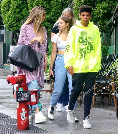 Editorial image of Heidi Klum and children out and about, New York, USA - 20 Jun 2019