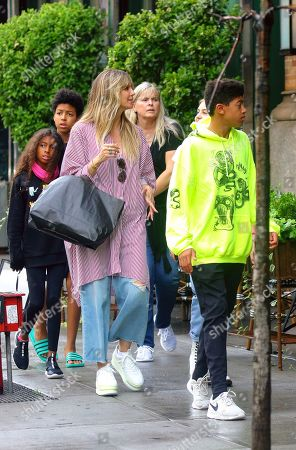 Heidi Klum with children Lou Sulola Samuel, Leni Samuel and Henry Samuel